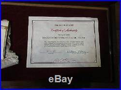 Franklin mint proof set Bankmarked sterling silver ingots