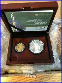Ireland 2016 Proclamation of the Irish Republic 2 Coin Silvr 15Eu &Gold 50Eu set