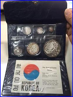Korea-South 1970 Complete Set of 6 Silver Coins Proof set