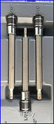 Matco Tools Silver Eagle Torx and Allen head Socket set Inverted, Tamper Proof