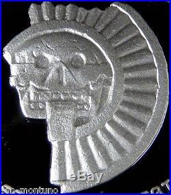 Mexico SILVER SKULL 3 Coin PROOF Set DISCO DE LA MUERTE Palau Memento Killer