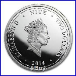 Niue 2014 4x 2$ Marvel Comics The Avengers Proof 4x 1 Oz Silver Coin Set