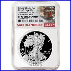 Presale 2020-S Limited Edition Proof Set $1 American Silver Eagle NGC PF70UC F