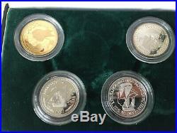 Prestige Portuguese Proof Set 1988 Gold, Silver, Platinum & Palladium Coins COA