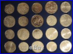 Reduced 1976 OLYMPIC SILVER SET 20 Coins 21 OZ PROOF Sealed + original box INFO