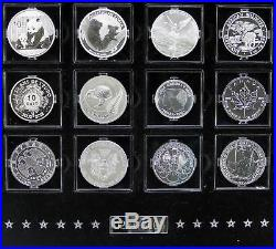 Royal Mint 2012 The Fabulous 12 Silver Proof Collection 12 Coin Deluxe Cased Set
