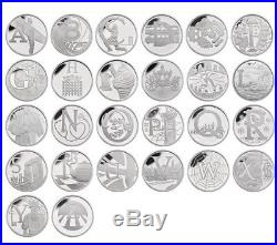 Royal Mint 2018 A-Z 26 Coin Silver Proof 10p Collection BRAND NEW