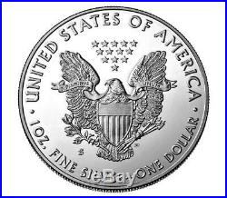 SEALED/UNOPENED 1oz 2019-S 999 AM. SILVER EAGLE ENHANCED REVERSE PF$1CN(19XE)