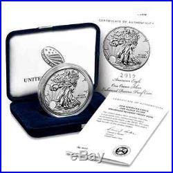 SF Mint 1oz 2019-S 999 AM. SILVER EAGLE ENHANCED REVERSE PROOF $1 (19XE)COA