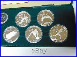 Set of 8 Proof 1988 Calgary Olympic 1 oz Silver Coins Canada $20 Silver (m. Rm)
