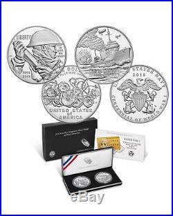 World War I Centennial 2018 Silver Dollar and Navy Medal Set Lot 1
